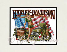 "Harley Girl"" 11x14 Print by Hawaii watercolor artist Garry Palm"