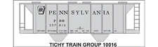 Tichy Train Group #10016 HO Scale PRR H34C Covered Hopper Decals