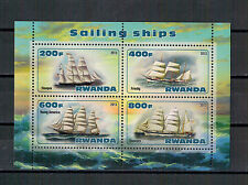 Ruanda-vela barcos   Sailor   Voiliers Klein arco mini Sheet, 2013 ** mnh