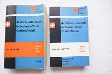 1966 & 1969 Swiss Railway Timetable with Maps x2 Switzerland Suisse Zurich