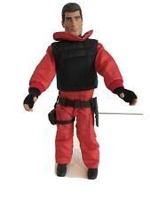 "2001 Hasbro GI Joe 12"" Soldier Figure With Bullet Proof Vest, Fuzzy Hair"
