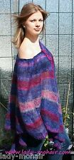 *Kid Mohair soft  sweater PONCHO leicht semi-transparent one size lila purple