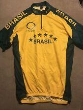 Men's Cycling Bike Jersey Brazil Brasil Medium M