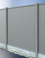PVC PLASTIC FENCE PANELS REINFORCED WITH METAL PROFILE GARDEN FENCING