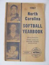 1957 North Carolina Softball Yearbook Amateur Softball Men/Women Stats Photos+++