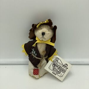 """Ganz Wee Bears Burlap The Scarecrow Teddy Bear Plush 5.5"""" Tags"""