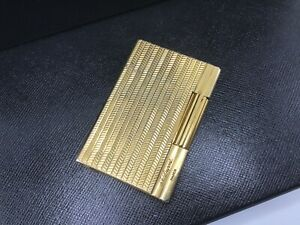 ST Dupont Gold-Plated Waves Gatsby Line Cigar Lighter Dual Soft Flame