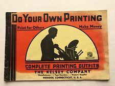 2-  1959 Kelsey Printing Machine Catalogs w/ Font Chart