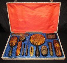 NECESSAIRE DE TOILETTE EN COFFRET 19 ème siècle Antique vanity dresser set