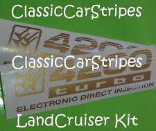 LandCruiser 4200 turbo 100 Series Gold Decal sticker