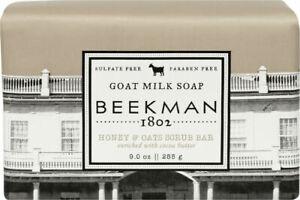 Beekman 1802 Goat Milk Honey & Oats Scrub Bar Soap 9 oz Brand New Sealed
