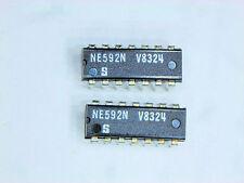 "NE592N  ""Original"" Signetics  14P DIP IC  2 pcs"