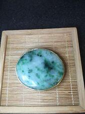Vintage Style Gift Burma Green Color Jade Belt Buckle (JBB21)