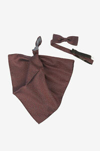 CORNELIANI men Ties and Bow Ties Brown Polka Dots Silk Bow Tie CC Pochette Brown
