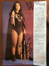 Cutie Suzuki Pin-up witch version with autograph Japan Woman Pro wrestling