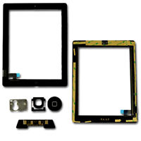 Touch Screen Digitizer Lens Glass Home Button For iPad 2 A1395 A1396 A1397 Black