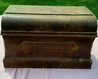 Vintage Standard Wooden Coffin Case Treadle Sewing Machine Cover
