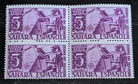 SPAIN SPANISH COLONIES 1950 SAHARA STAMP DAY 5 Ptas AIRMAIL HERRERA BLOCK 4 MNH