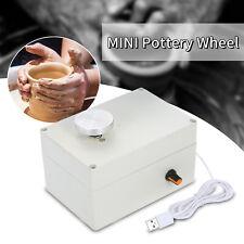 Electric Pottery Wheel Ceramic Machine 4.5CM Clay Art Craft Child Christmas R1K2