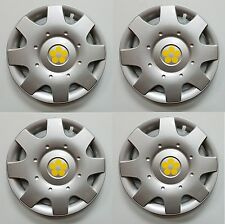 "1998-2009 VW BEETLE 16"" YELLOW DAISY FLOWER Hubcaps Wheelcovers SET of 4 NEW"