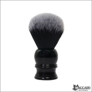Shaving Brush - Maggard Razors 24mm Black & White Synthetic Brush, Black