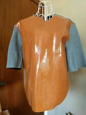MARNI for H&M PATENT LEATHER Knitted Grey Top - Size US 4 to 8 / UK 8 to 12