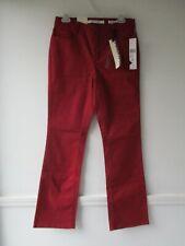 NWT Jones New York Women's 6 Cotton Blend Solid Deep Red Mercer Bootcut Jeans