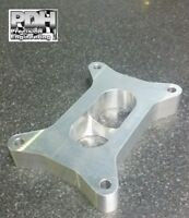 """1"""" CARBY SPACER, SUIT 2 BARREL 350 HOLLEY, TAPERED 2 HOLE TO 1"""