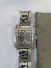 FENDI  SAPPHIRE CRYSTAL SILVER TONE WATCH. STAINLESS STEEL/SMALL WRIST 6""
