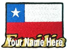 Flag of Chile Custom Iron-on Patch With Name Personalized Free