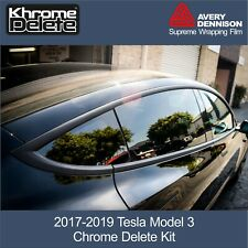 Chrome Delete Kit fitting the 2017-2020 Tesla Model 3