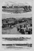 INDIAN TERRITORY CAMP AND SCOUTS TEEPEE CAVALRY OFFICERS ENLISTING INDIANS