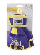 Everlast EverGEL Hand Wraps Gloves UFC MMA Boxing Large Purple Yellow