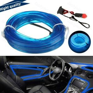 9.8FT Stunning Car Neon Strip EL Wire Decor Atmosphere Blue Cold Light For Nissa