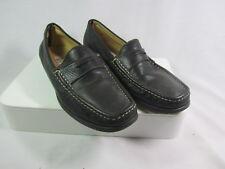 NINE WEST Penny Loafer Womens Shoe Sz 8 Black Leather