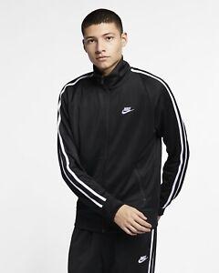 Nike Sportswear N98 Knit Warm Up Jacket XSmall /Large Black Anthracite White