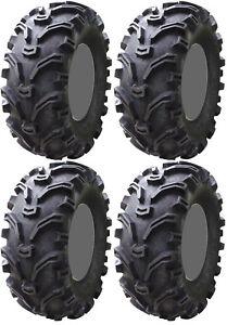 Four 4 Kenda Bearclaw ATV Tires Set 2 Front 22x8-10 & 2 Rear 24x11-10 K299
