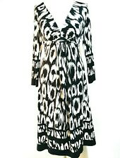 Black White Monochrome Print Midi Dress Size 12 Star by Julien Macdonald