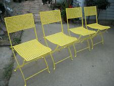Antique/Vintage metal bistro/folding chairs