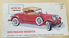 Vintage Hubley 1930 PACKARD ROADSTER  Metal Model Kit 4860-500