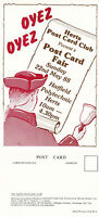 1988 HERTFORDSHIRE POSTCARD CLUB FAIR ADVERTISING POSTCARD UNUSED