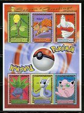Grenada Grenadines Pokemon Season'S Greetings 2000 Sheet Mint Nh