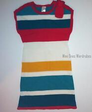 Gymboree Ready Dress Go Multi Stripe Bow Sweater Dress Girls 9 NEW NWT