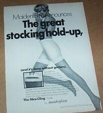 1969 print ad -Maidenform pantyhose stockings Pantie girdle girl lingerie ADVERT