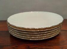 "Set of 6 LenoxWeatherly Salad Plates Platinum 7 7/8"" Excellent Condition"
