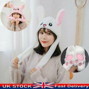 Plush Rabbit Bunny Hat Animals Ear Moving Jumping Hat Cute Animal Ear Flap Hat