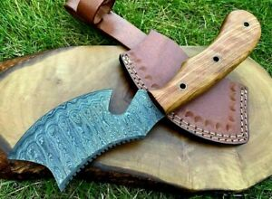 Handmade Damascus Steel Small Axe Camping Bush Crafts Gift Collection  24cm X1-O