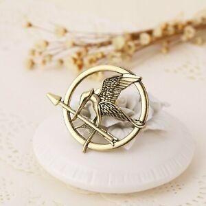 The Hunger Games Katniss Everdeen Cosplay Prop Mockingjay Gold Pin Brooch Badge