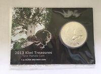 2013 New Zealand Kiwi 1oz Silver Coin Bullion ( Toned )