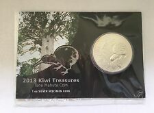 2013 New Zealand Kiwi 1oz Silver Coin Bullion ( Toned )